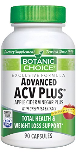 SHIP BY USPS: Botanic Choice Advanced Apple Cider Vinegar Plus with Green Tea, 90 Capsules
