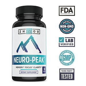 SHIP BY USPS Natural Brain Function Support - Memory, Focus & Clarity Formula - Nootropic Scientifically Formulated for Optimal...