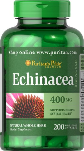 SHIP BY USPS  Echinacea 400 mg - 200 Capsules (1 bottle)