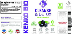 Premium Gentle Body Cleanse & Detox Dietary Supplement By Kenko Bio - Natural Antioxidant Combination Formula...