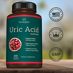 SHIP BY USPS: Premium Uric Acid Support Supplement – Uric Acid Cleanse & Kidney Support – Includes Tart Cherry, Chanca Piedra,...