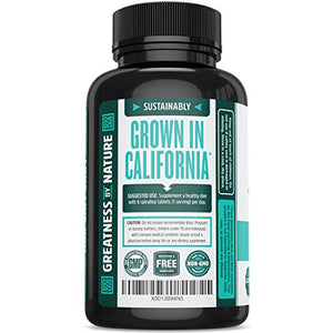 SHIP BY USPS Non-GMO Spirulina Tablets, Highest Quality Spirulina on Earth, Sustainably Grown in California without Pesticides,...