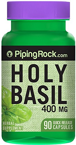Holy Basil 400 mg Tulsi 90 Quick Release Capsules Herbal Supplement