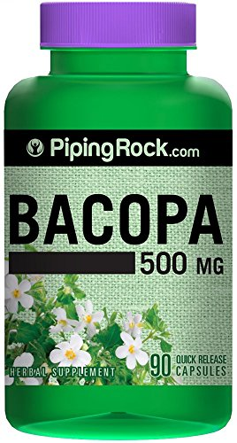 Bacopa Monnieri 500 mg 90 Quick Release Capsules Herbal Supplement