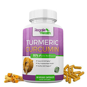 SHIP BY USPS Turmeric Curcumin Supplement with Bioperine~1950mg~95% Curcuminoids~Joint Pain, Anti-inflammatory,...