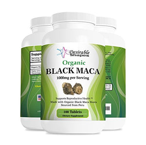 SHIP BY USPS Organic Peru black maca root tablets 1000 milligram per serving dietary supplement,100 tablets per bottle