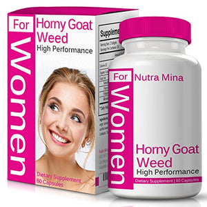 SHIP BY USPS Horny Goat Weed Extract For WOMEN, Natural Booster For Best Performance with Maca Root, Muira Puama, L...