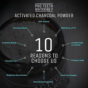 SHIP BY USPS Activated Charcoal Natural Teeth Whitening Powder by Pro Teeth Whitening Co® | High Quality Grey Charcoal...