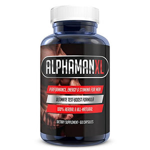 SHIP BY USPS: #1 Best Seller AlphaMAN XL Male Pills | 2+ Inches in 60 days - Enlargement Booster Increases Energy, Mood & Endurance | Best...