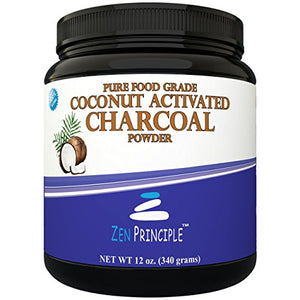 SHIP BY USPS LARGE 12 Oz. Coconut Activated Charcoal Powder. Whitens Teeth, Rejuvenates Skin and Hair, Detox and helps...