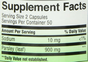 SHIP BY USPS: Nature's Way Parsley Leaf Capsules, 450 mg, 100-Count