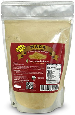 SHIP BY USPS Raw Organic Maca Root Powder, Premium Peruvian Pure Superfood 1lb