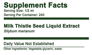 2 PACK Milk Thistle Seed Alcohol-Free Liquid Extract, 4 fl oz, 240 doses - Greenbush 100% Natural...