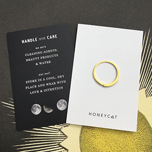 HONEYCAT Tiny Crystal Row Ring in 24k Gold Plate, 18k Rose Gold Plate, or Sterling Silver Plate | Minimalist, Delicate Jewelry