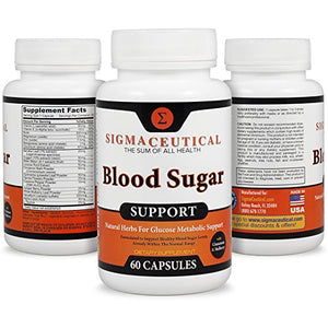 [2 Bottles] Premium Blood Sugar Support Supplement - Normal Blood Glucose Control & Natural Weight Loss - Vitamin...