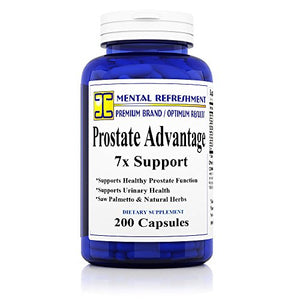 SHIP BY USPS: Advanced Prostate Support 7X with Saw Palmetto Pygeum  Zinc - Made in USA