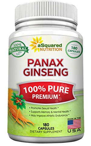 SHIP BY USPS: Pure Red Korean Panax Ginseng (1000mg Max Strength) 180 Capsules Root Extract Complex, Asian Powder...