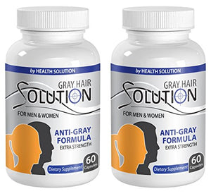 Catalase bulk - GRAY HAIR SOLUTION FOR MEN AND WOMEN - Hair color restorer (2 Bottles 120 Capsules)