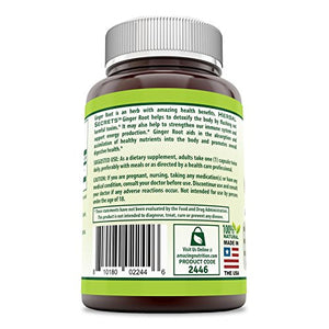 SHIP BY USPS Herbal Secrets Ginger Root Supplement - 550 mg Capsules - Easy to Swallow Capsule - Helps to Relieve From...