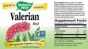SHIP BY USPS: Nature's Way Valerian Root, 530 mg, 100 Capsules,