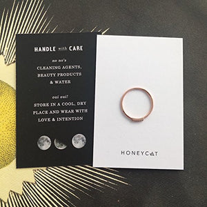 HONEYCAT Mini Crystal Row Ring in Gold, Rose Gold, or Silver | Minimalist, Delicate Jewelry