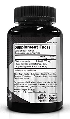 SHIP BY USPS Tribulus Terrestris 1000 mg 180 Tablets - Powerful Male Enhancement | Muscle Growth | Stamina | Boost Sexual...