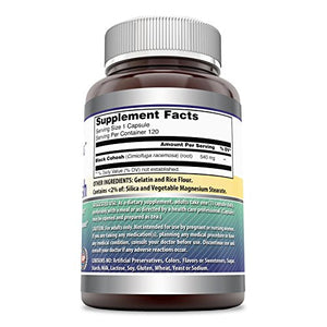 Amazing Formulas Black Cohosh, 540mg Supplement with Pure Root Extract – All Natural Support for Womens...
