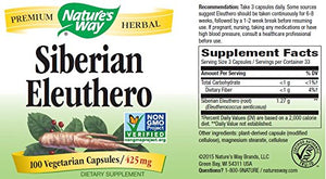 SHIP BY USPS: Nature's Way Siberian Eleuthero, 425mg Capsules, 100 Count