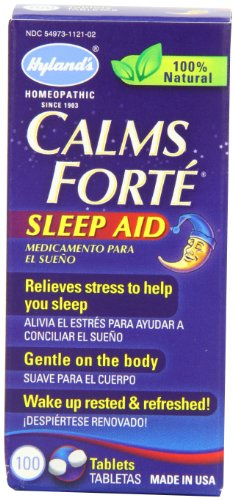 3 Pack - Hyland's Calms Forte' Sleep Aid Tablets, Natural Relief of Nervous Tension and Occasional Sleeplessness, 100...