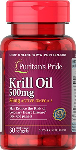 SHIP BY USPS:  Red Krill Oil 500 mg (86 mg Active Omega-3)-30 Softgels