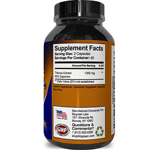 SHIP BY USPS Tribulus Terrestris Extract - Pure Source of Energy (Extremely Potent Formula) - Increases Testosterone &...