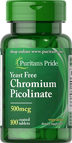 Chromium Picolinate 500 mcg Yeast Free-100 Tablets
