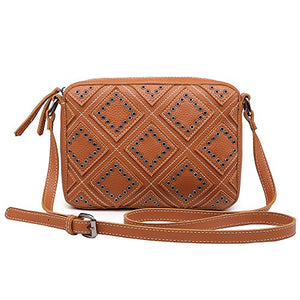 Small Crossbody Bags for Women Purse Faux Leather Handbags for Girls Teens Stylish Studed Shoulder Bags
