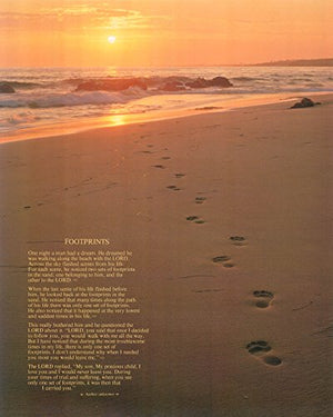 Footprints Poster in the Sand Motivational Wall Picture Black Framed Art Print