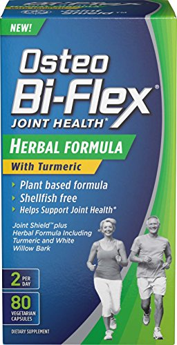 SHIP BY USPS Osteo Bi-Flex® Herbal Formula w/Turmeric 80 Vegetarian Capsules