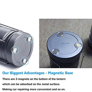 2 Pack Camping Lantern Ultra Bright Portable Outdoor Taclight Lantern with Collapsible & Magnetic Base