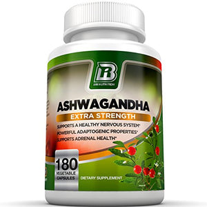 SHIP BY USPS BRI Nutrition Ashwagandha - 90 Count - 1000mg Pure Ashwagandha Root Powder - 2 Veggie Capsules Per...