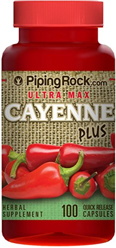 Ultra Max Cayenne Plus 100 Quick Release Capsules Herbal Supplement