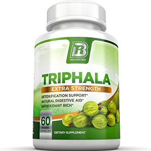 SHIP BY USPS BRI Nutrition Triphala - 1000mg Veggie Himalaya Triphala Pure Extract Plus - 30 Day Supply - 60ct Veggie Capsules