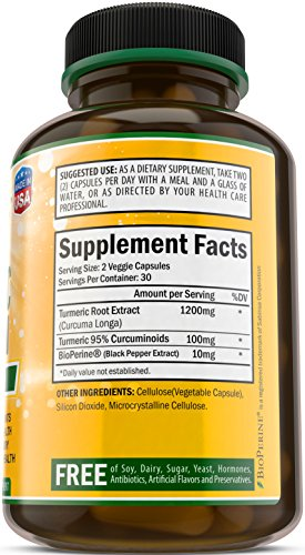 SHIP BY USPS: Turmeric Curcumin with Bioperine 100% Natural Anti-Inflammatory & Antioxidant. Digestive &...