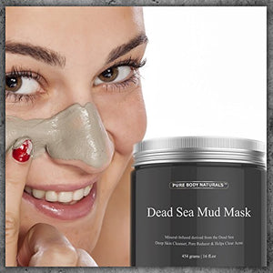 SHIP BY USPS Pure Body Naturals Dead Sea Mud Mask, 8.8-ounce