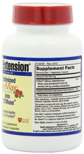 SHIP BY USPS: Life Extension Optimized Cran-max with UTIRose, Vegicaps, 60-Count