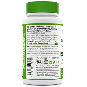 SHIP BY USPS Hyperbiotics Glucose Support: Targeted Probiotics with Banaba Leaf Extract - Promotes Healthy Blood Sugar Levels,...