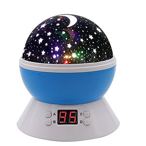 SCOPOW Constellation Night Light Star Sky with LED Timer Auto-Shut Off, 360 Degree Rotation Colorful Moon Night...