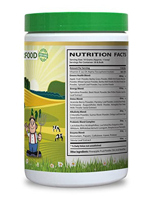 Natural greens and fruits - GREEN SUPERFOOD BLEND 300G WITH NATURAL PINEAPPLE FLAVOR - Improve...