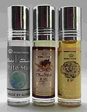 SHIP BY USPS Al-Rehab 6ml Perfume Oils - Bestsellers 04 thru 6 - White Musk - Choco Musk - White Full