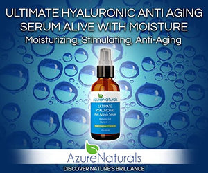 SHIP BY USPS Azure Naturals Professional Strength Best Hyaluronic Acid Natural Moisturizer for Your Face, Anti Aging Organic...