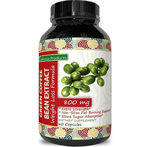 SHIP BY USPS: Pure Green Coffee Bean Extract Capsules - Lose Weight and Increase Energy Natural Nutritional...
