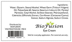 Advanced Natural Eye Cream for Dark Circles and Puffiness Repair 15ML – For Sensitive Skin Protection – Pure...