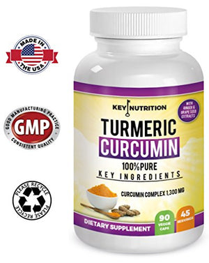 SHIP BY USPS: Turmeric Curcumin - Hyper Strength - Pain Relief, Health Joint, Anti Inflammatory & Cardiovascular Support - High...
